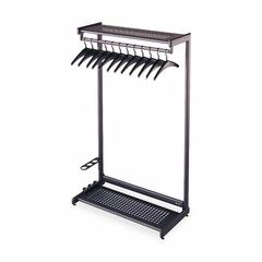 Two Shelf Garment Rack - 8 Hangers - Black - QRT20222