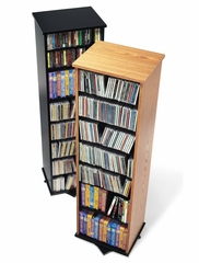 Two Sided Spinning Tower in Oak/Black - Prepac Furniture - OMS-0525