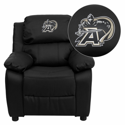 U.S. Military Academy Black Knights Embroidered Black Leather Kids Recliner - BT-7985-KID-BK-LEA-40021-EMB-GG