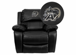 U.S. Military Academy Black Knights Embroidered Black Leather Rocker Recliner  - MEN-DA3439-91-BK-40021-EMB-GG