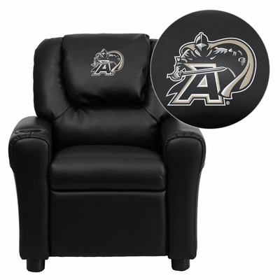 U.S. Military Academy Black Knights Embroidered Black Vinyl Kids Recliner - DG-ULT-KID-BK-40021-EMB-GG