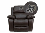 U.S. Military Academy Black Knights Embroidered Brown Leather Rocker Recliner  - MEN-DA3439-91-BRN-40021-EMB-GG