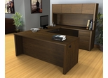 U-Shaped and Hutch Desk in Chocolate - Prestige Plus - Bestar Office Furniture - 99853-69