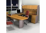 U-Shaped Computer Work Station in Cappuccino Cherry and Slate - Executive - Bestar Office Furniture - 52412-68