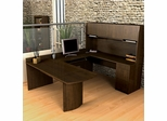 U-Shaped Computer Work Station in Chocolate - Executive - Bestar Office Furniture - 52412-69