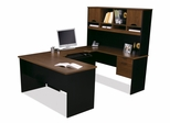 U-Shaped Desk in Tuscany Brown and Black - Innova - Bestar Office Furniture - 92850-63