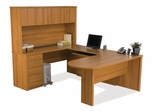 U-Shaped Desk Set 2 in Cappuccino Cherry - Embassy - Bestar Office Furniture - 60856-68