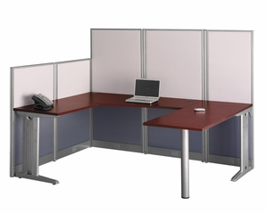 U-Workstation - Office-in-an-Hour Collection - Bush Office Furniture - WC36496-03K