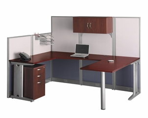 U-Workstation Set 2 - Office-in-an-Hour Collection - Bush Office Furniture - OIAH-SET-4