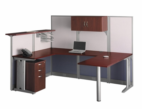 U-Workstation Set 3 - Office-in-an-Hour Collection - Bush Office Furniture - OIAH-SET-5