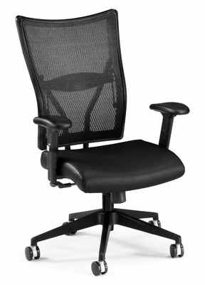 Ultimate Leather Executive Mesh Chair (Mid back) - OFM - 591-L