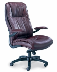 Ultimo Deluxe High Back Leather Chair in Burgundy - Mayline Office Furniture - ULEXBUR