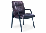 Ultimo Leather Guest Chair in Burgundy - Mayline Office Furniture - ULGSTBUR