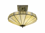 Umbrella Filigree Mission Semi Flush Mount - Dale Tiffany