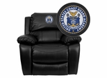 United States Coast Guard Academy Leather Rocker Recliner - MEN-DA3439-91-BK-41079-A-EMB-GG