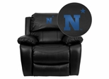 United States Naval Academy Goats Black Leather Rocker Recliner - MEN-DA3439-91-BK-45019-EMB-GG