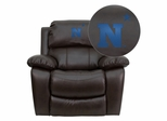 United States Naval Academy Goats Leather Rocker Recliner - MEN-DA3439-91-BRN-45019-EMB-GG