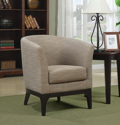 Upholstered Accent Chair with Beige Upholstery - 900333