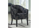 Upholstered Accent Chair with Dark Circle Pattern - 900436