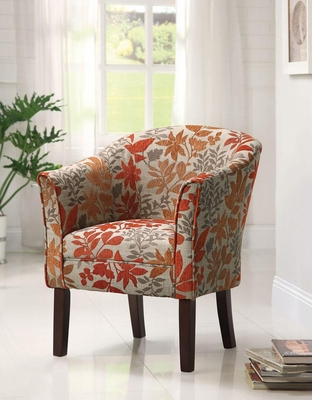 Upholstered Autumn Leaves Accent Chair - 460407
