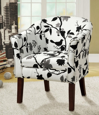 Upholstered Bird and Branch Accent Chair - 460406