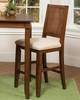 Upholstered Bistro Stool in Soft Mahogany - Jamaican Bay - 5535-89