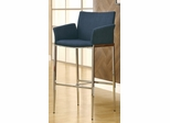 Upholstered Blue Bar Stool - Set of 2 - 120725