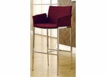 Upholstered Cranberry Bar Stool - Set of 2 - 120728