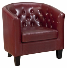 Upholstered Gianni Club Chair in Red - GIANNI-CH-RED