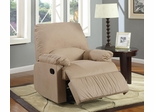 Upholstered Glider Recliner in Light Brown - 600264G