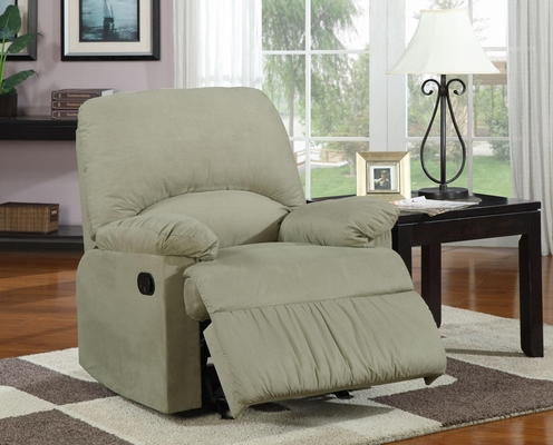 Upholstered Glider Recliner in Sage - 600267G
