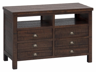 "Urban Lodge Brown 42"" Media Unit with Storage - 087-42"