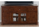 "Urban Lodge Brown 60"" TV Stand with Glass Doors - 020-9"