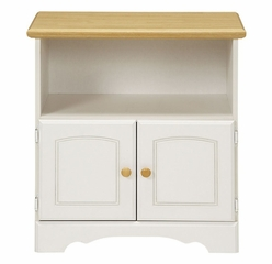 Utility Stand in White/Maple - Kitchen Essentials - New Visions by Lane - 394-031