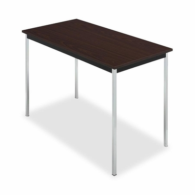 Utility Table - Mahogany/Black - ICE67038