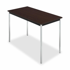 Utility Table - Mahogany/Black - ICE67068