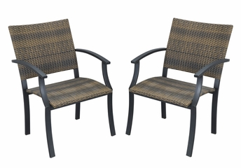 Delmar Outdoor Table and 4 Newport Arm Chairs - Home Styles - 5602-3081