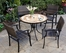 Valencia Outdoor Table and 4 Newport Arm Chairs - Home Styles - 5603-3081