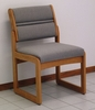 Valley Medium Oak Armless Guest Chair - Wooden Mallet Office Furniture - DW2-1MO