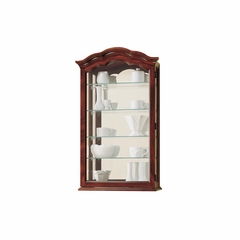Vancouver Windsor Cherry Wall Curio Cabinet - Howard Miller