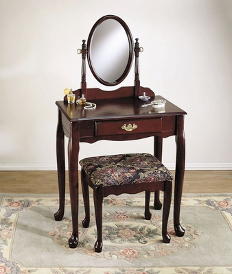 Vanity, Mirror and Bench -