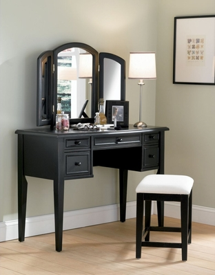 Vanity, Mirror and Bench in