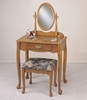 "Vanity, Mirror and Bench - ""Nostalgic Oak"" - Powell Furniture - C53"