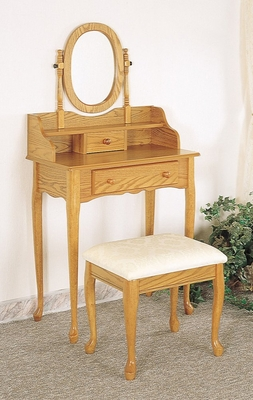 Vanity Table Set in Oak - Coaster