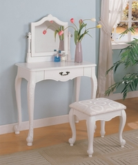 Vanity Table Set in White - Coaster