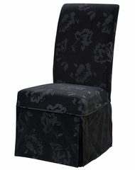 "Velvet Tone-on-Tone Floral Black Skirted ""Slip Over"" (Fits 741-440 Chair) - Powell Furniture - 741-219Z"