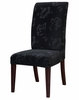 "Velvet Tone-on-Tone Floral Black ""Slip Over"" (Fits 741-440 Chair) - Powell Furniture - 741-218Z"