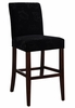 "Velvet Tone-on-Tone Floral Black ""Slip Over"" for Counter Stool or Bar Stool - Powell Furniture - 742-218Z"