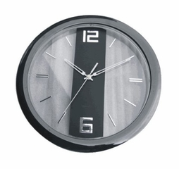 Verichron Black Contempo Wall Clock in Black - HS-8305BLK