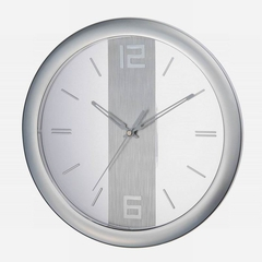 Verichron Chrome Contempo Wall Clock in Chrome - HS-8305S